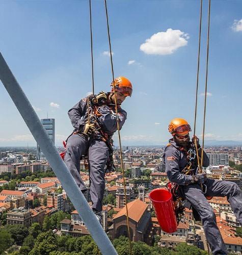 Услуги промышленного альпинизма в Екатеринбурге